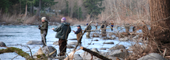 Group of fly fishermen