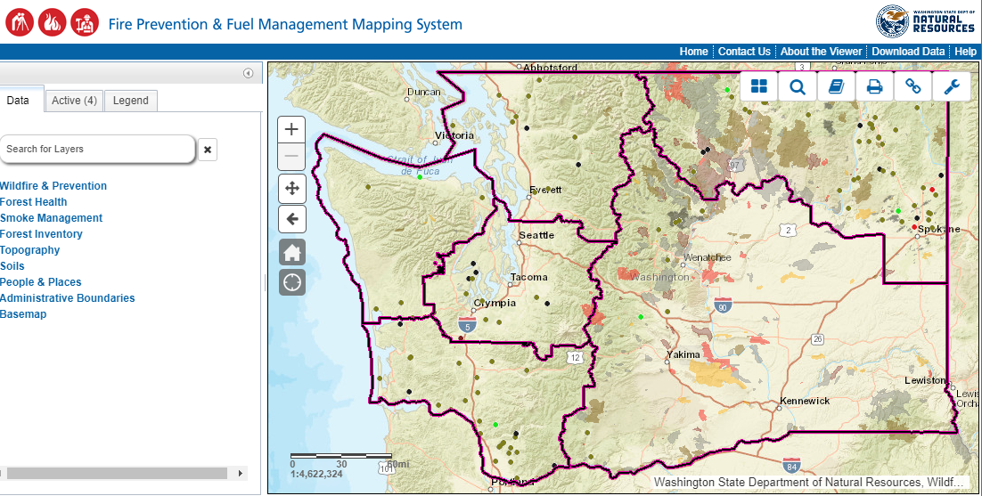 Washington State Department of Natural Resources GIS Open Data